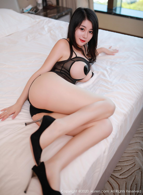 [XiuRen] Vol.2548 Mei Qi 35P, Black Silk, Mei Qi, Underwear, Xiuren, 美七, 美七Mia