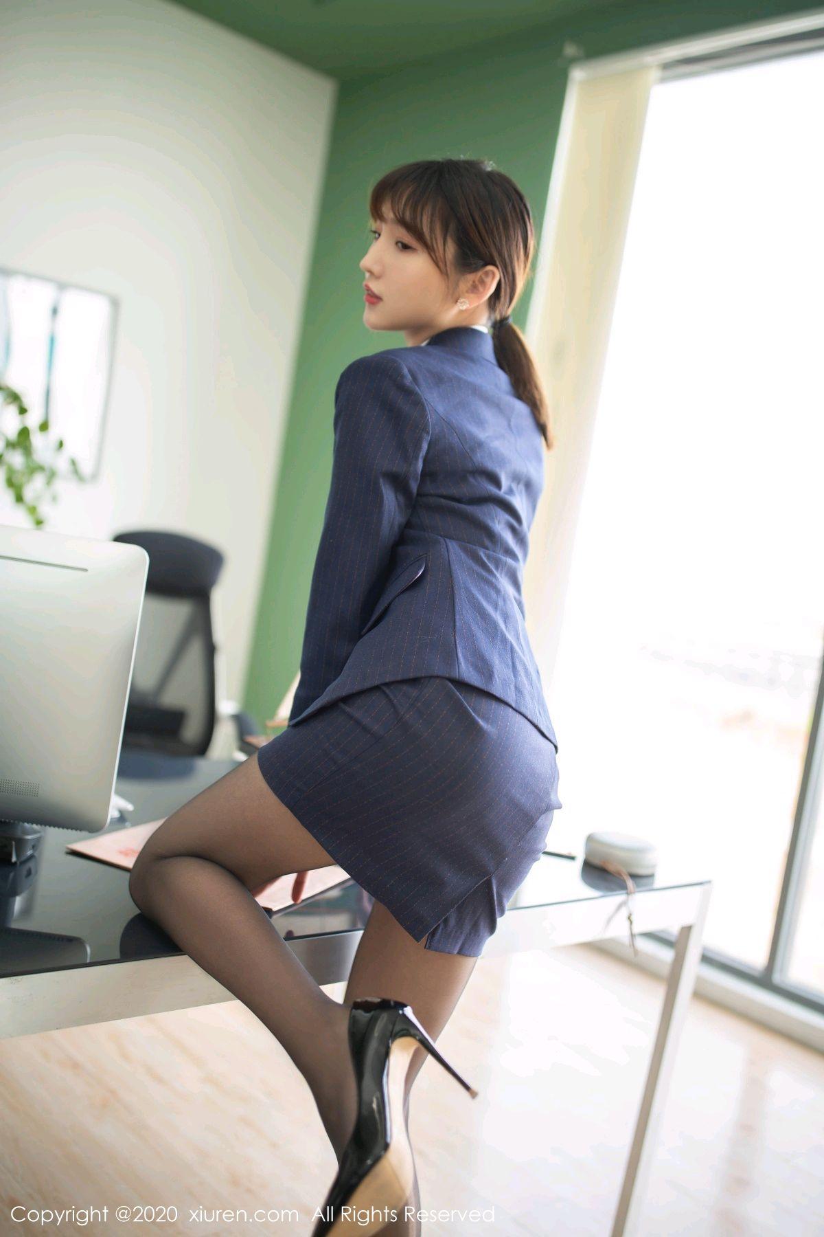 [XiuRen] Vol.2552 Lu Xuan Xuan 10P, Black Silk, Lu Xuan Xuan, Tall, Uniform, Xiuren