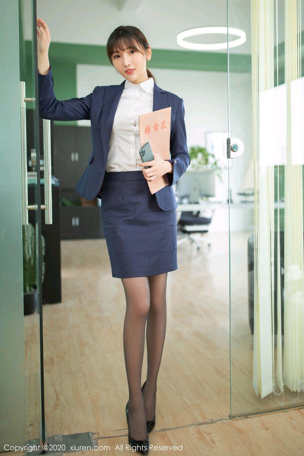 [XiuRen] Vol.2552 Lu Xuan Xuan 3P, Black Silk, Lu Xuan Xuan, Tall, Uniform, Xiuren
