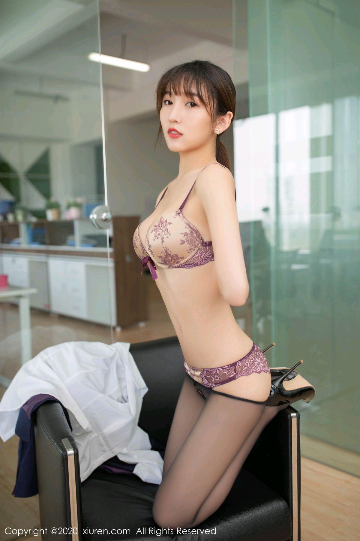 [XiuRen] Vol.2552 Lu Xuan Xuan 54P, Black Silk, Lu Xuan Xuan, Tall, Uniform, Xiuren