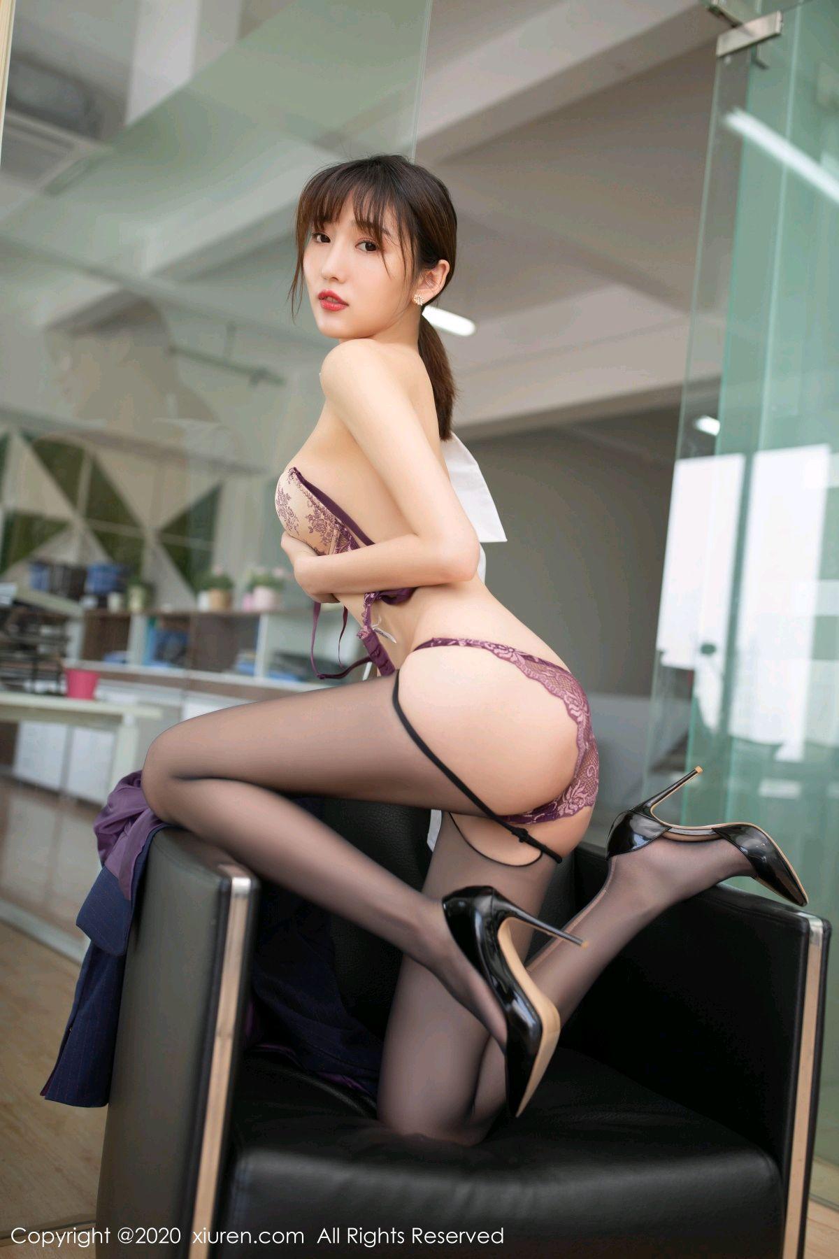 [XiuRen] Vol.2552 Lu Xuan Xuan 57P, Black Silk, Lu Xuan Xuan, Tall, Uniform, Xiuren