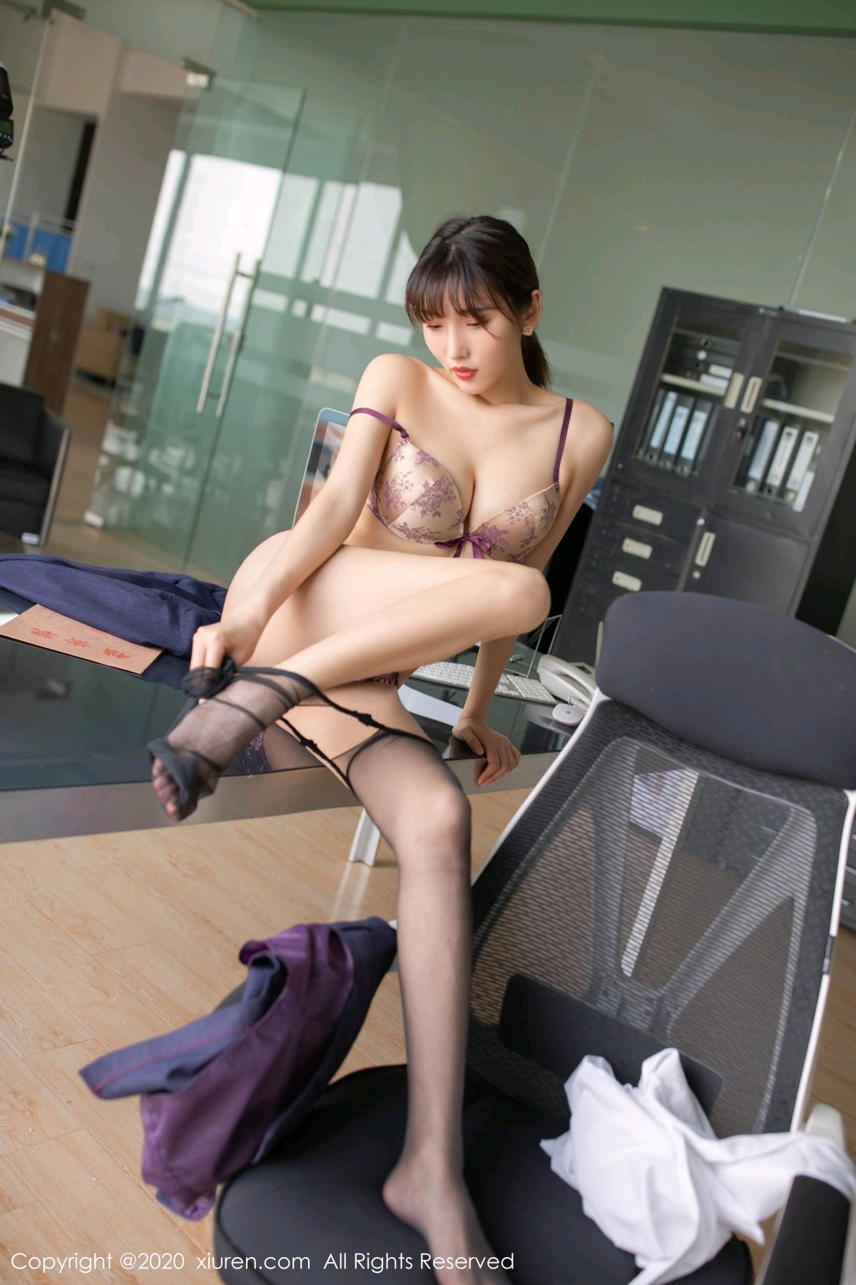 [XiuRen] Vol.2552 Lu Xuan Xuan 68P, Black Silk, Lu Xuan Xuan, Tall, Uniform, Xiuren