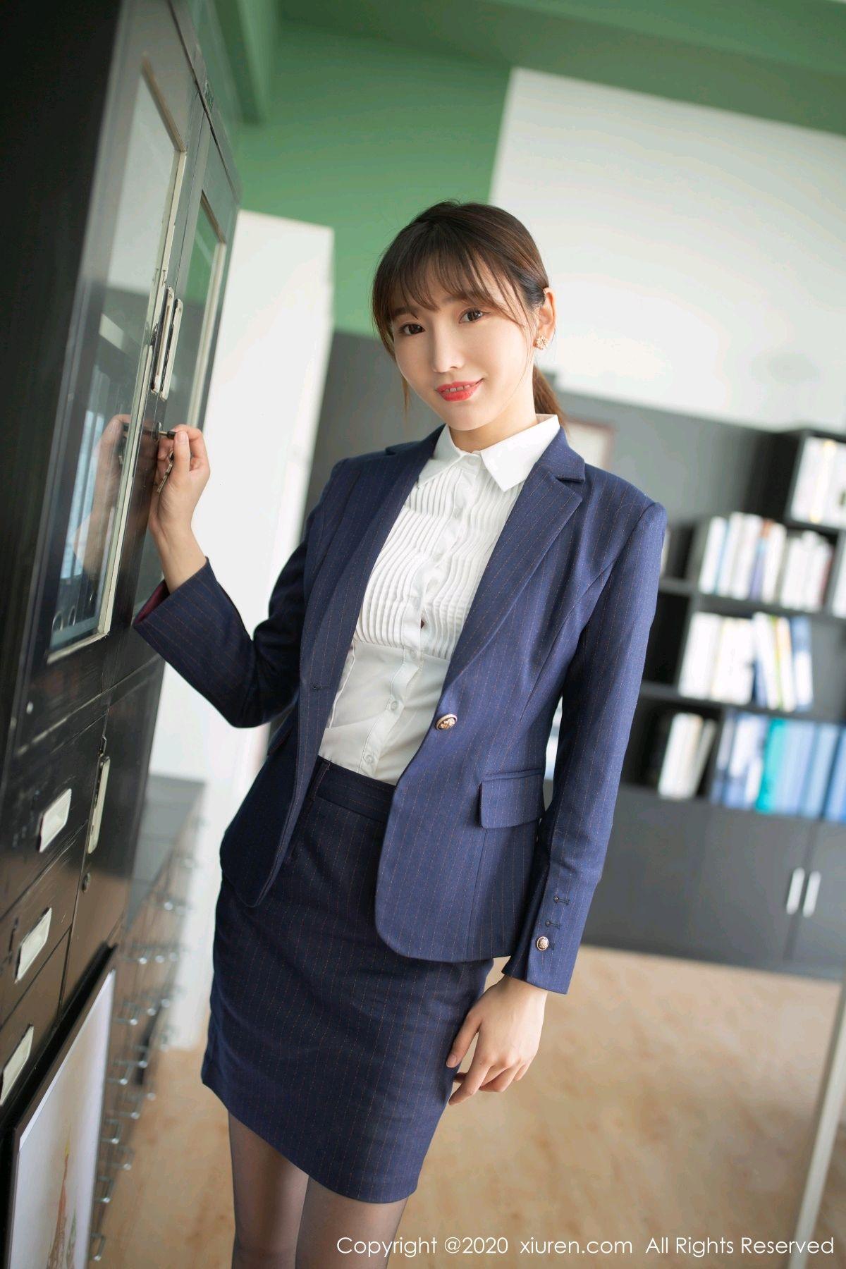 [XiuRen] Vol.2552 Lu Xuan Xuan 76P, Black Silk, Lu Xuan Xuan, Tall, Uniform, Xiuren