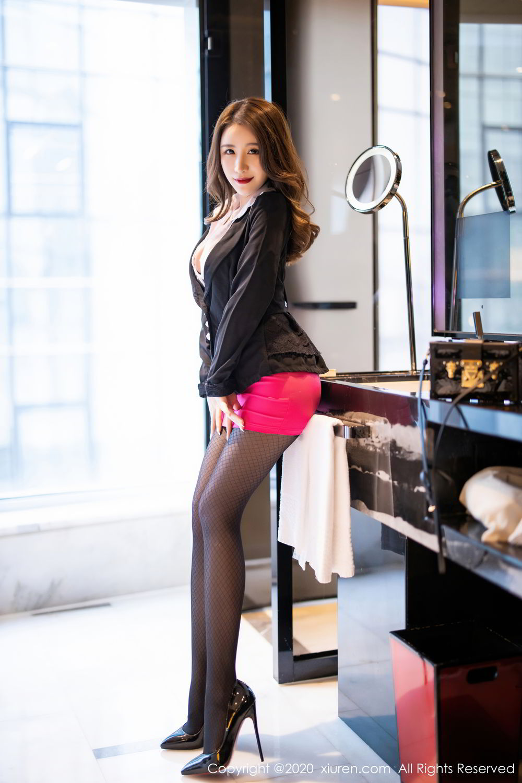 [XiuRen] Vol.2553 Fei Yue Ying 10P, Big Booty, Tall, Uniform, Xie Zhi Xin, Xiuren