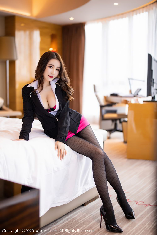 [XiuRen] Vol.2553 Fei Yue Ying 28P, Big Booty, Tall, Uniform, Xie Zhi Xin, Xiuren