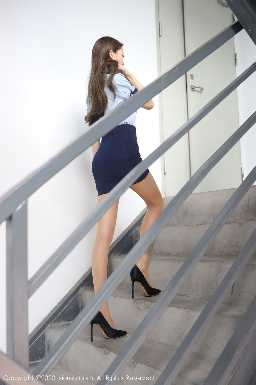 [XiuRen] Vol.2555 She Bei La 12P, She Bei La, Underwear, Uniform, Xiuren