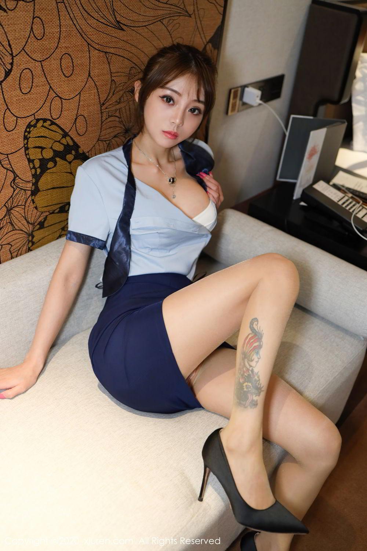 [XiuRen] Vol.2555 She Bei La 14P, She Bei La, Underwear, Uniform, Xiuren