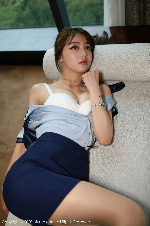 [XiuRen] Vol.2555 She Bei La 9P, She Bei La, Underwear, Uniform, Xiuren