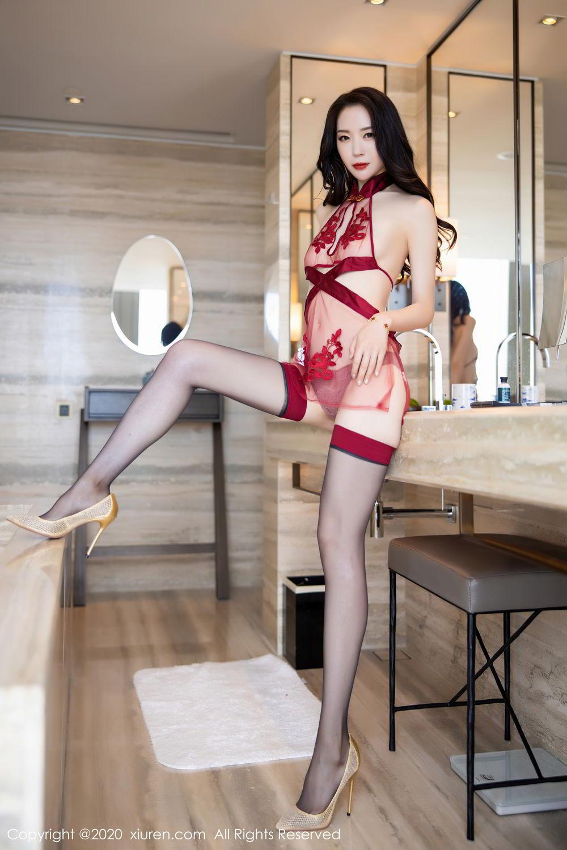 [XiuRen] Vol.2562 Meng Xin Yue 17P, Black Silk, Meng Xin Yue, Tall, Underwear, Xiuren