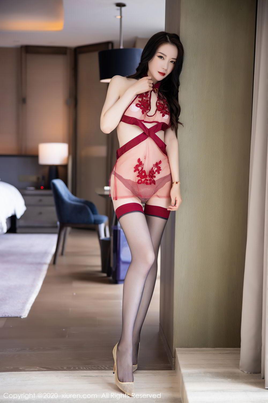 [XiuRen] Vol.2562 Meng Xin Yue 21P, Black Silk, Meng Xin Yue, Tall, Underwear, Xiuren