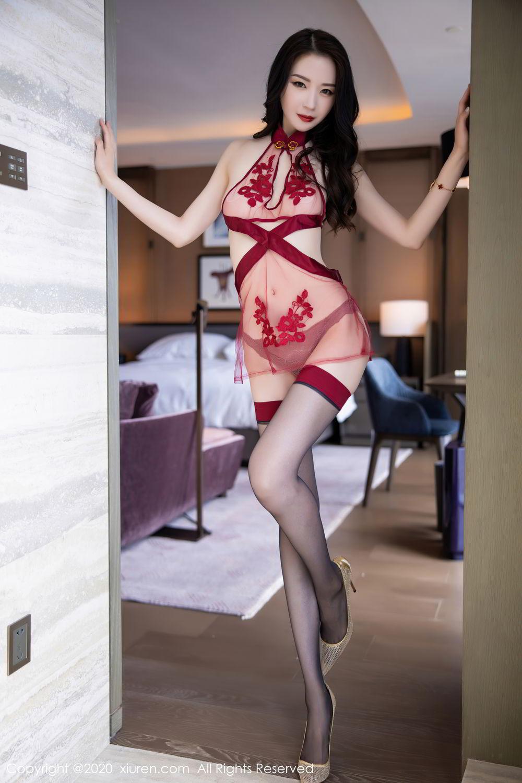 [XiuRen] Vol.2562 Meng Xin Yue 24P, Black Silk, Meng Xin Yue, Tall, Underwear, Xiuren