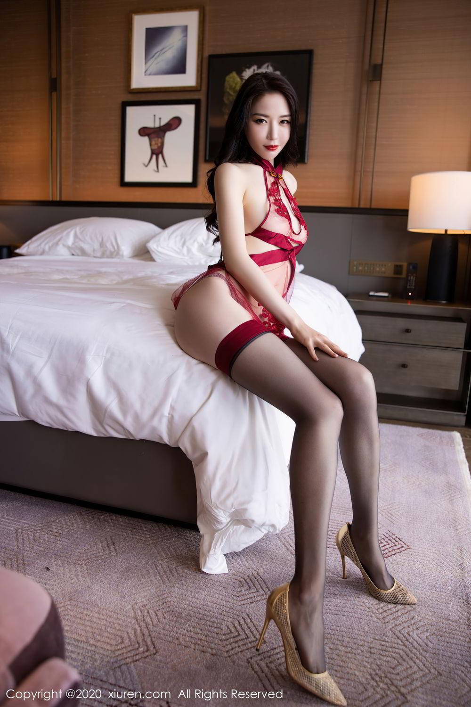 [XiuRen] Vol.2562 Meng Xin Yue 31P, Black Silk, Meng Xin Yue, Tall, Underwear, Xiuren