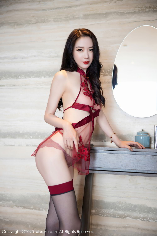 [XiuRen] Vol.2562 Meng Xin Yue 56P, Black Silk, Meng Xin Yue, Tall, Underwear, Xiuren