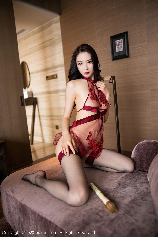 [XiuRen] Vol.2562 Meng Xin Yue 73P, Black Silk, Meng Xin Yue, Tall, Underwear, Xiuren