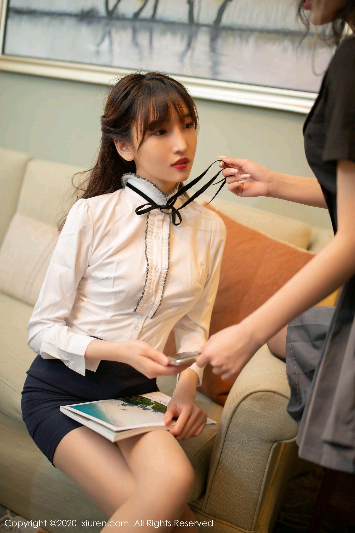 [XiuRen] Vol.2626 Secrets in mobile phones 17P, Chen Xiao Miao, Lu Xuan Xuan, School Uniform, Sisters, Xiuren
