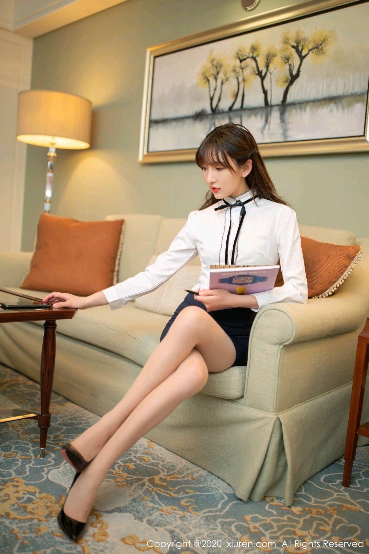 [XiuRen] Vol.2626 Secrets in mobile phones 6P, Chen Xiao Miao, Lu Xuan Xuan, School Uniform, Sisters, Xiuren
