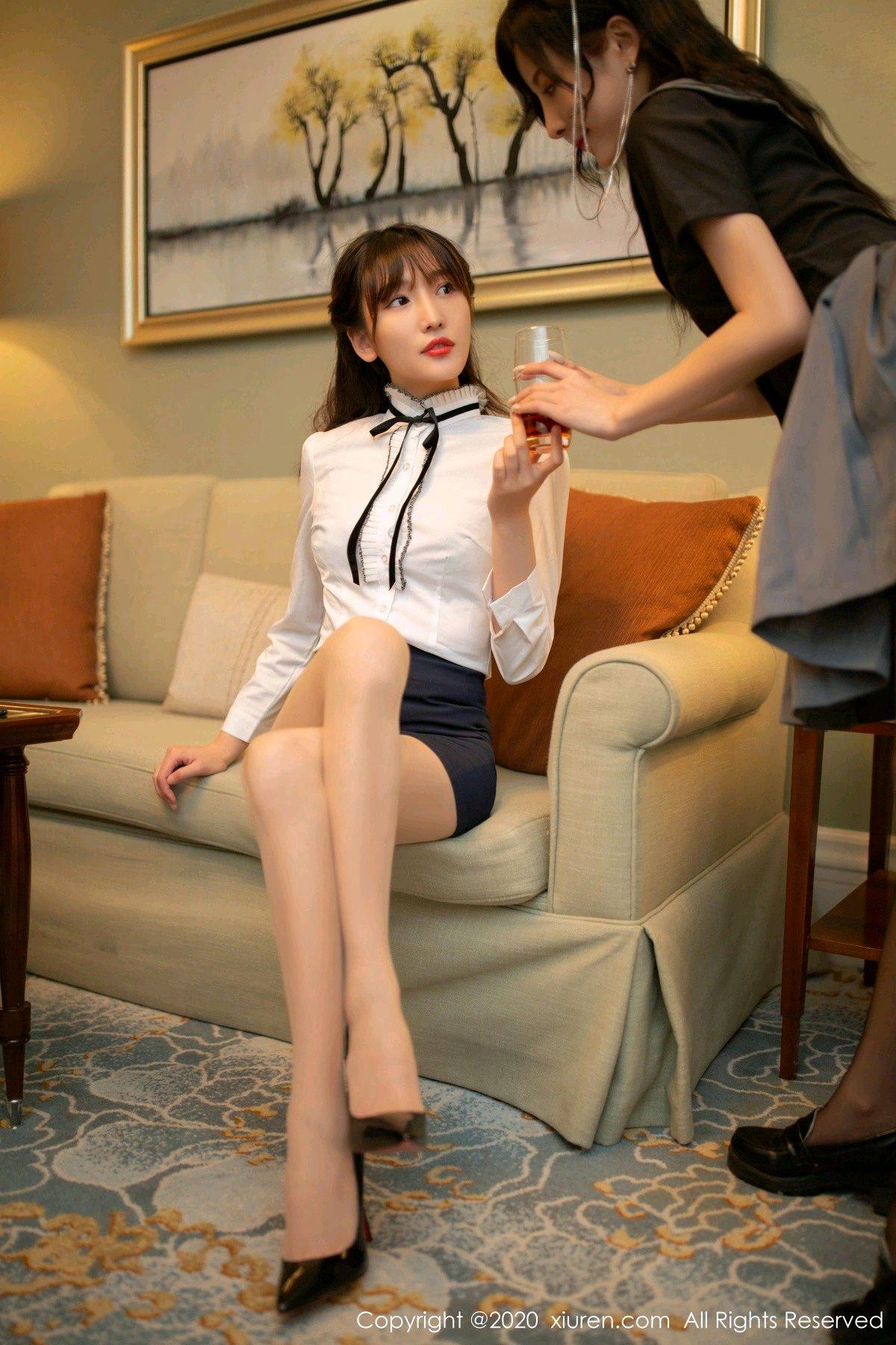 [XiuRen] Vol.2626 Secrets in mobile phones 7P, Chen Xiao Miao, Lu Xuan Xuan, School Uniform, Sisters, Xiuren