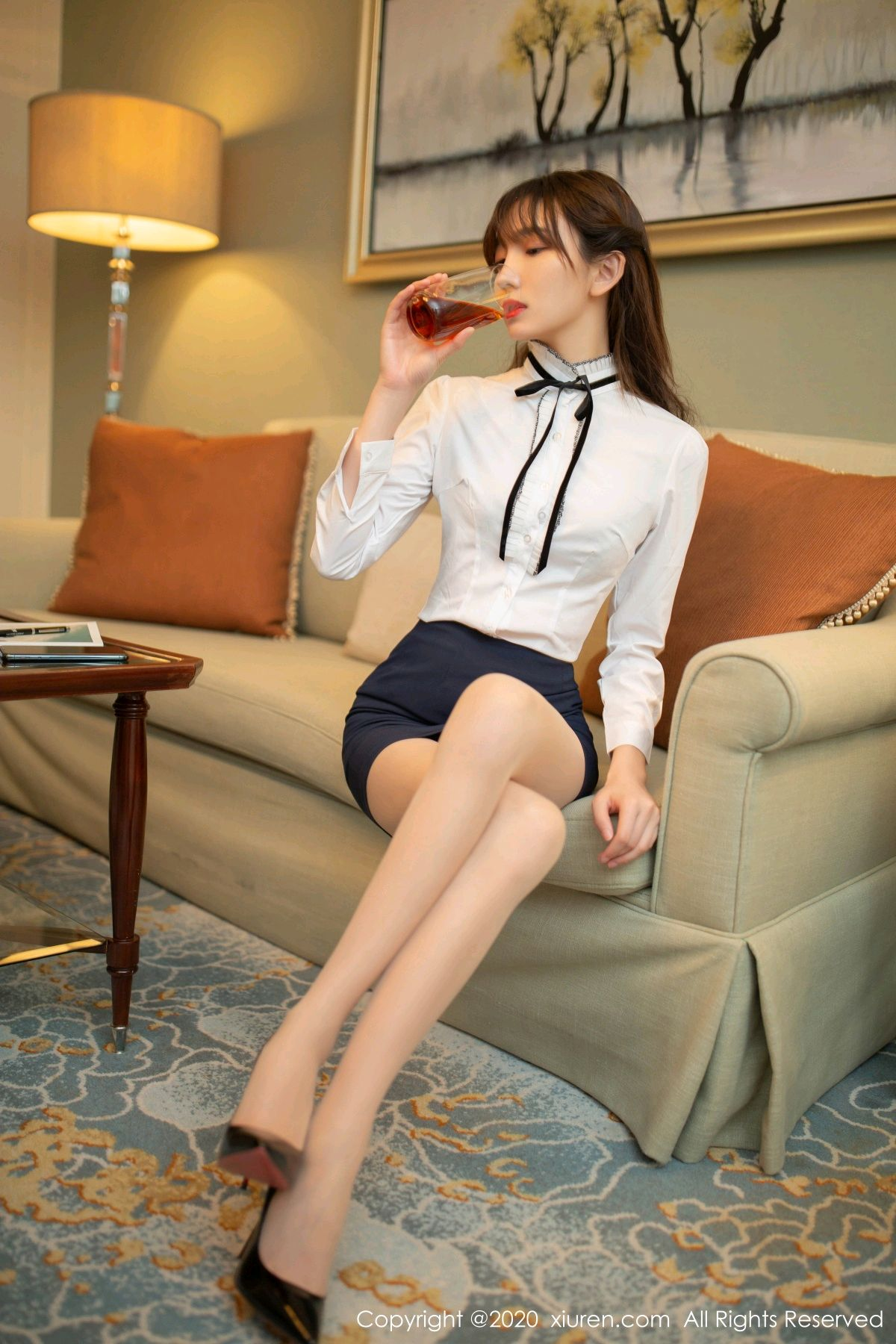 [XiuRen] Vol.2626 Secrets in mobile phones 8P, Chen Xiao Miao, Lu Xuan Xuan, School Uniform, Sisters, Xiuren
