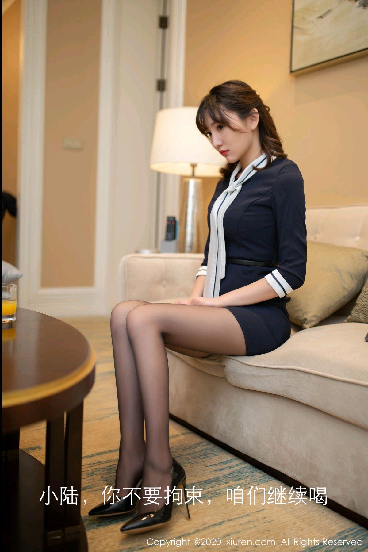 [XiuRen] Vol.2647 Lu Xuan Xuan 16P, Black Silk, Lu Xuan Xuan, Tall, Uniform, Xiuren