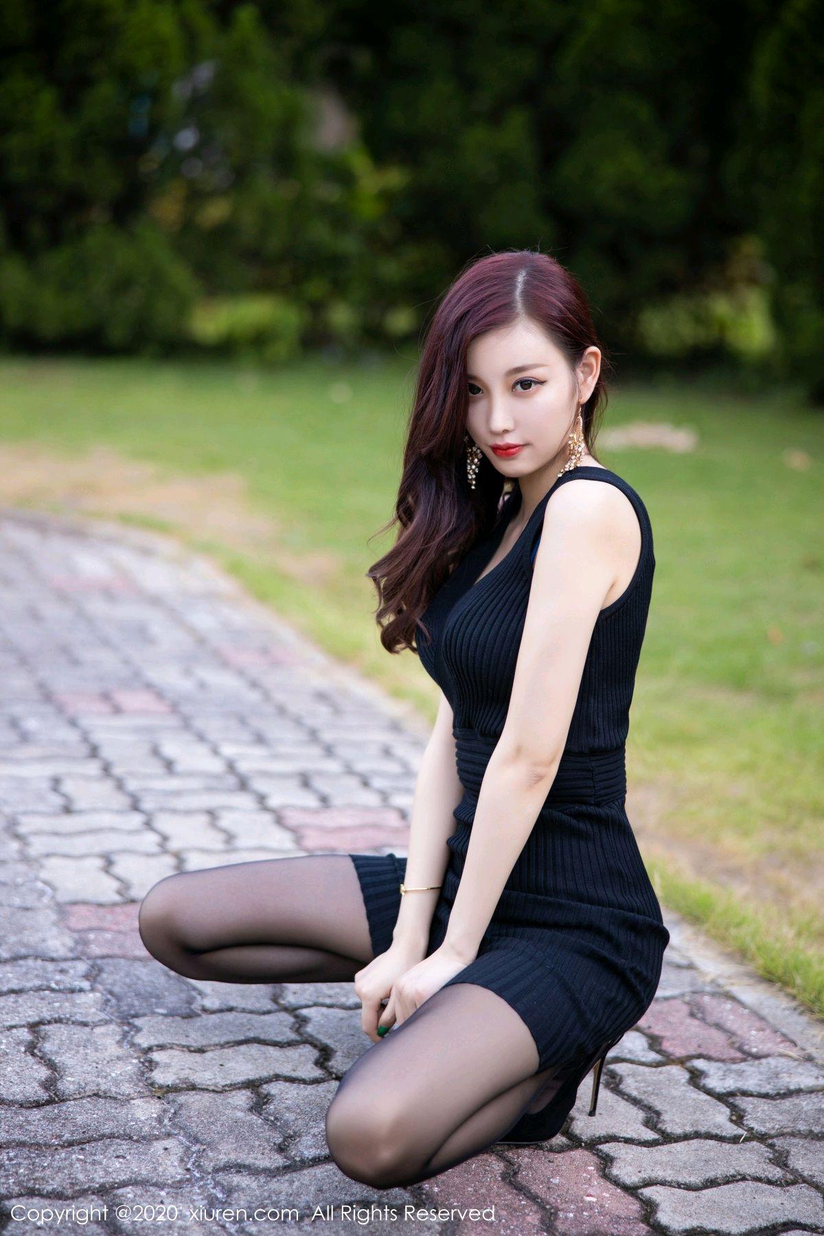 [XiuRen] Vol.2648 Yang Chen Chen 11P, Black Silk, Outdoor, Xiuren, Yang Chen Chen