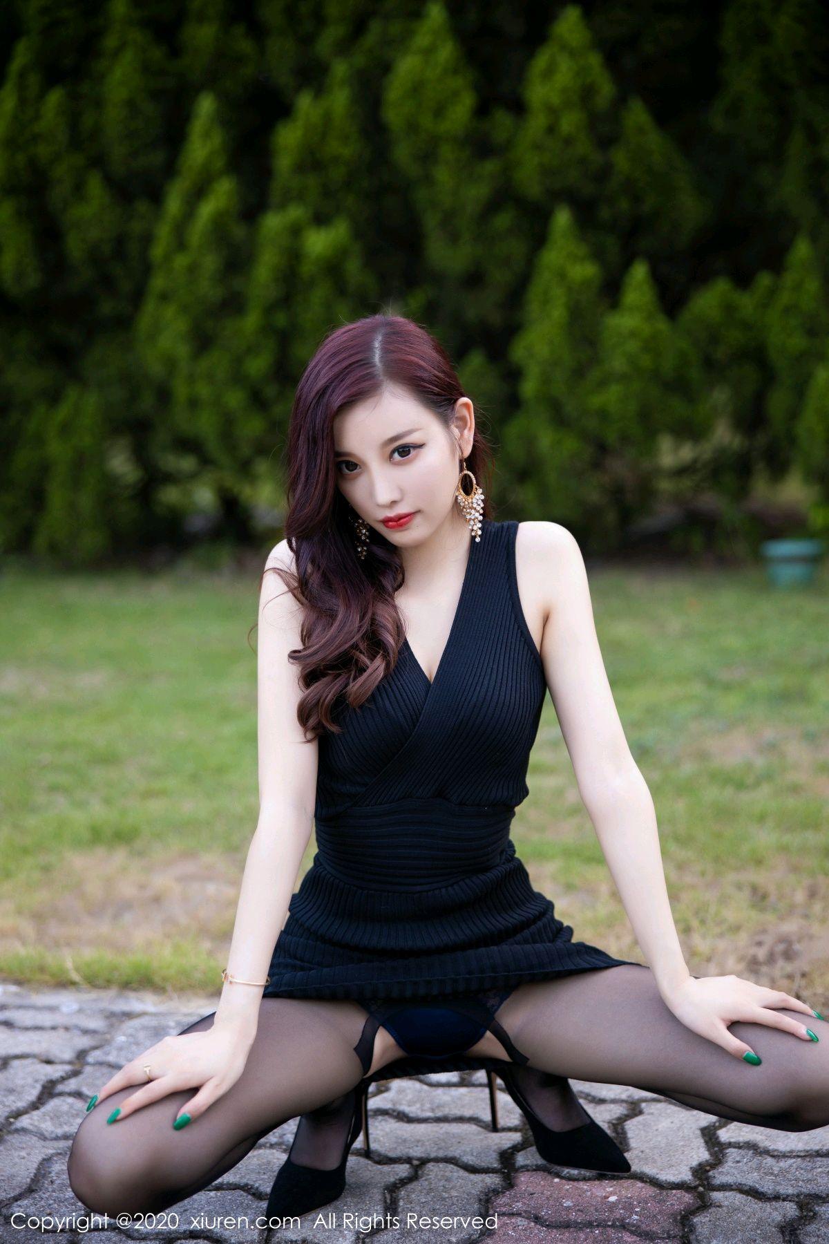 [XiuRen] Vol.2648 Yang Chen Chen 13P, Black Silk, Outdoor, Xiuren, Yang Chen Chen