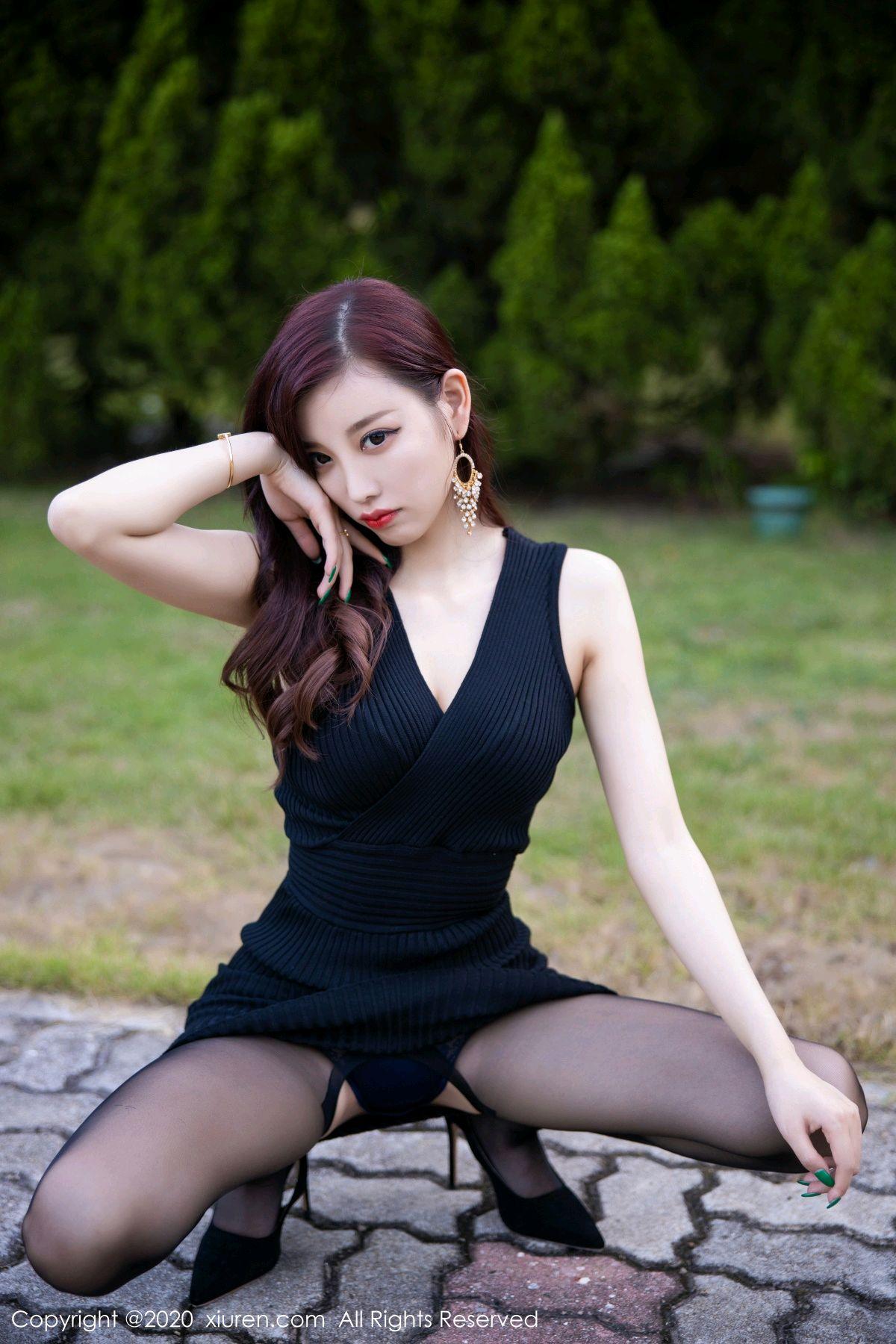 [XiuRen] Vol.2648 Yang Chen Chen 14P, Black Silk, Outdoor, Xiuren, Yang Chen Chen