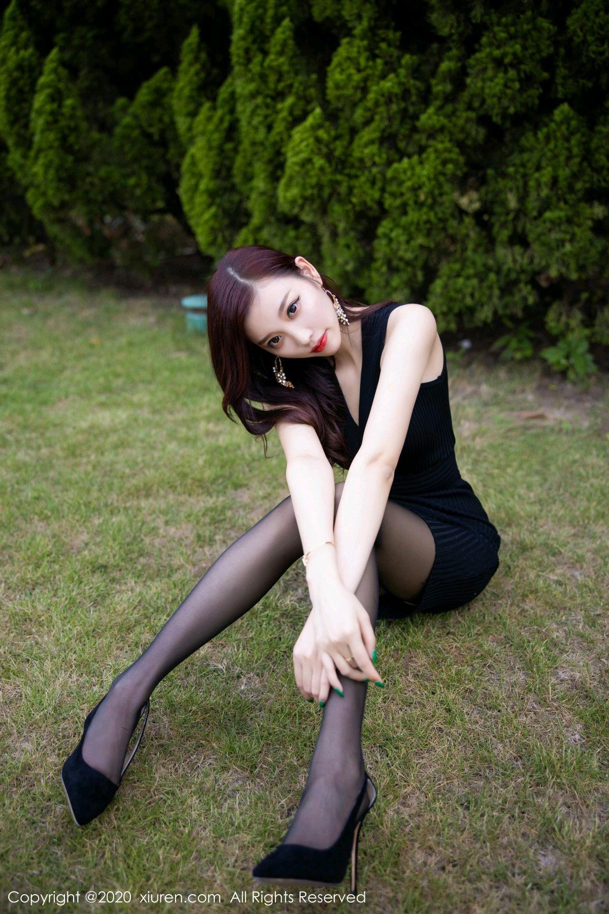 [XiuRen] Vol.2648 Yang Chen Chen 15P, Black Silk, Outdoor, Xiuren, Yang Chen Chen