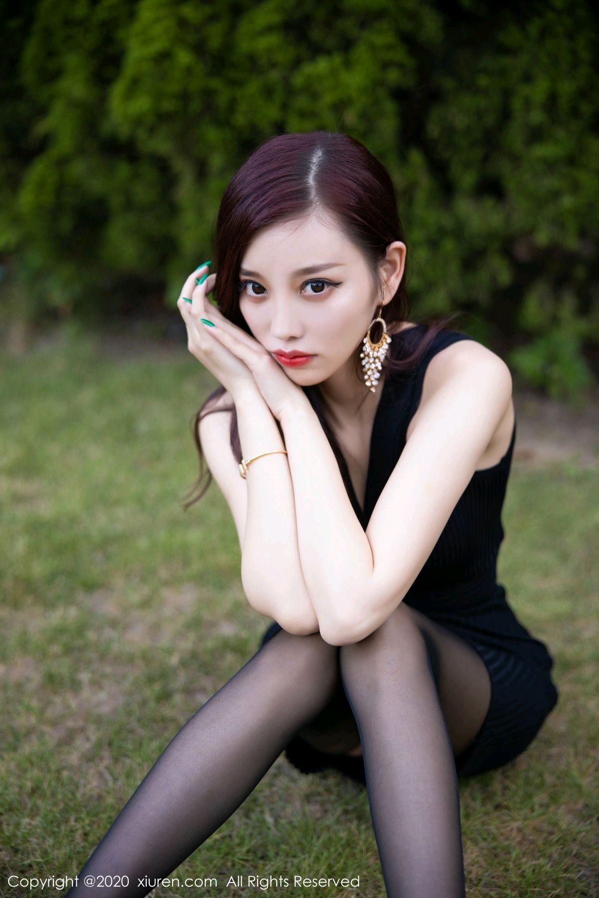 [XiuRen] Vol.2648 Yang Chen Chen 16P, Black Silk, Outdoor, Xiuren, Yang Chen Chen