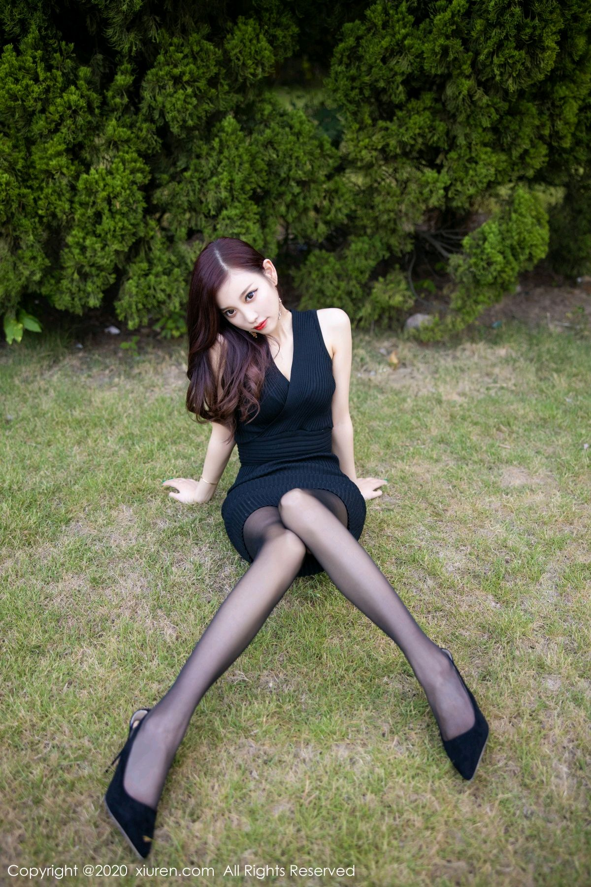 [XiuRen] Vol.2648 Yang Chen Chen 19P, Black Silk, Outdoor, Xiuren, Yang Chen Chen