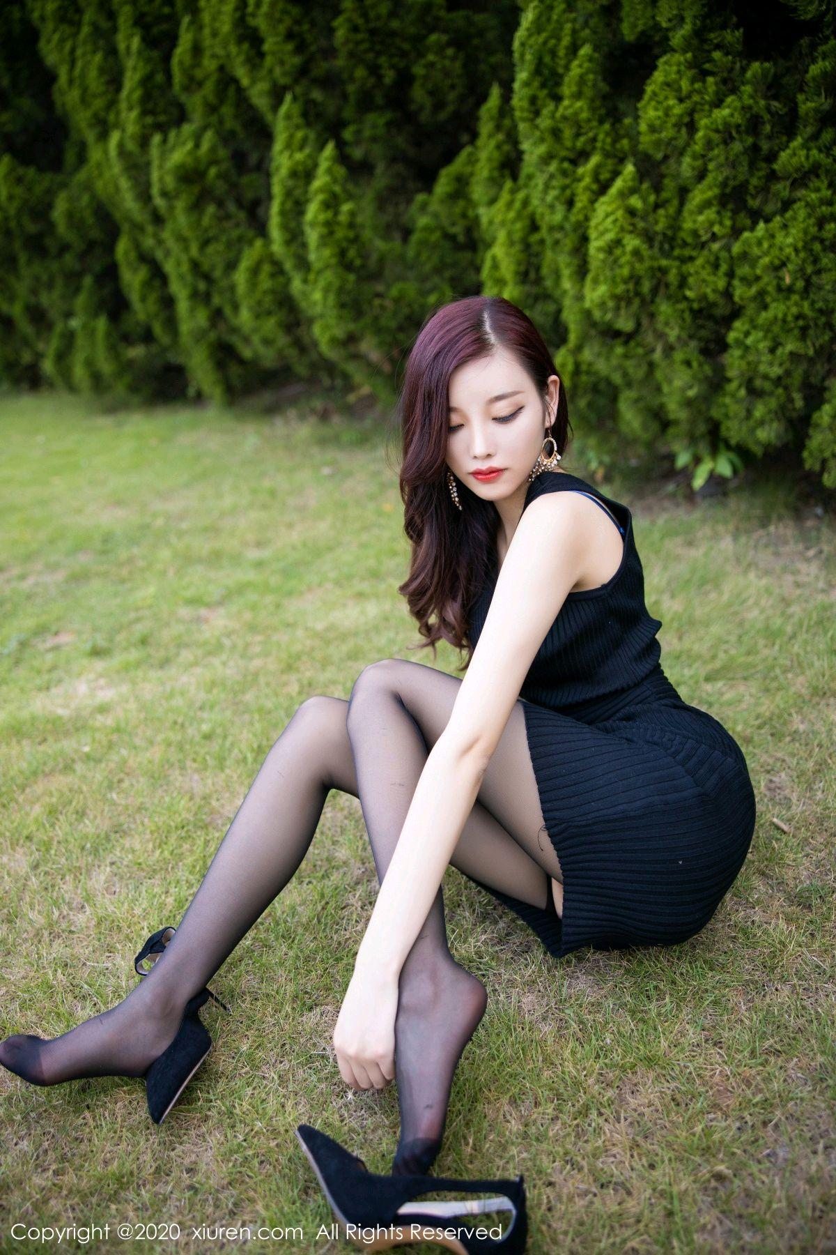[XiuRen] Vol.2648 Yang Chen Chen 22P, Black Silk, Outdoor, Xiuren, Yang Chen Chen