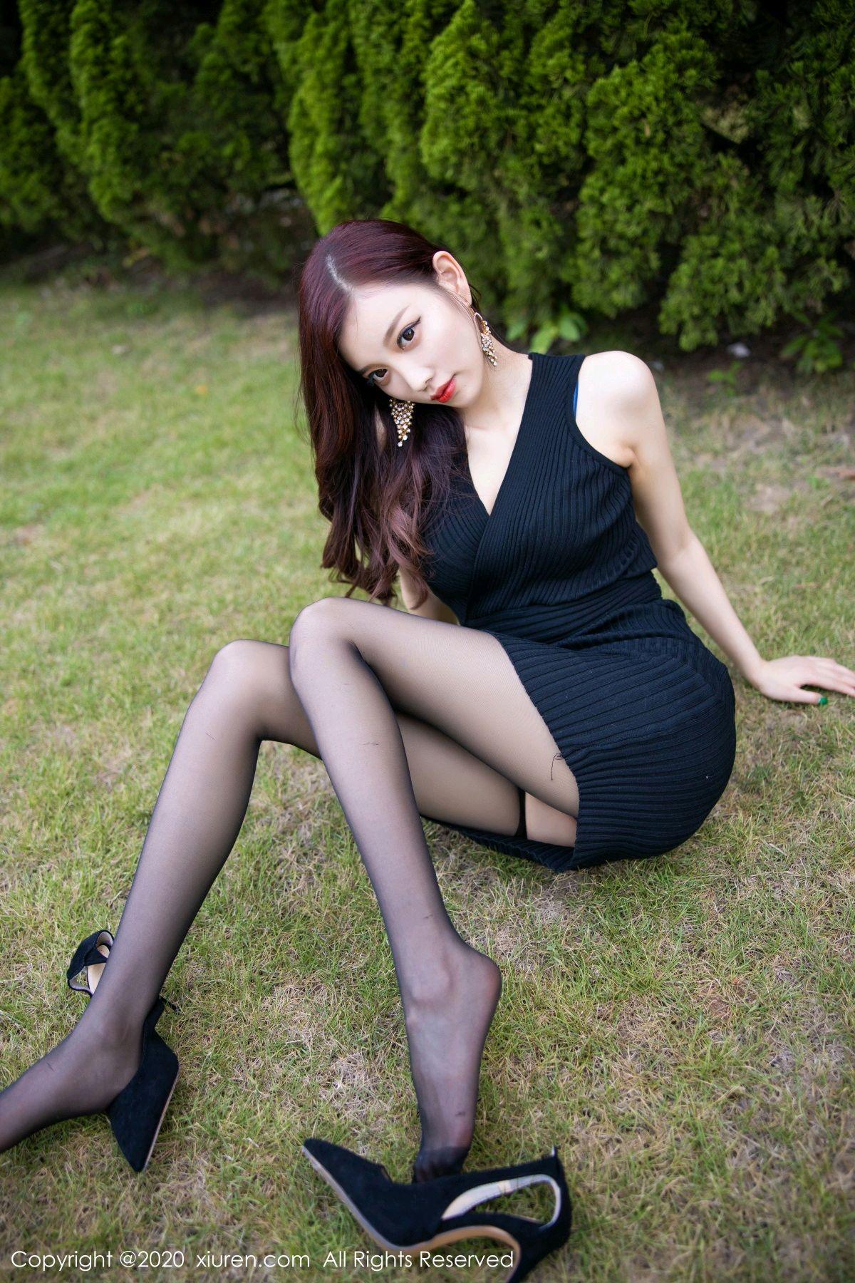 [XiuRen] Vol.2648 Yang Chen Chen 24P, Black Silk, Outdoor, Xiuren, Yang Chen Chen