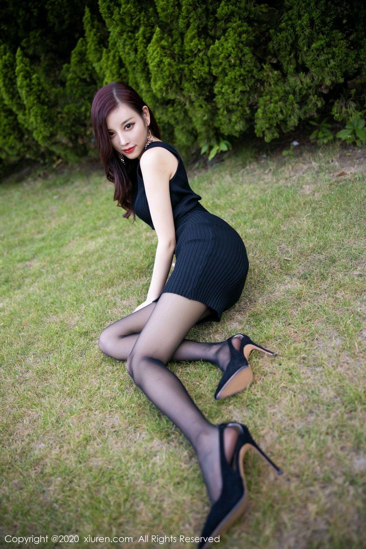 [XiuRen] Vol.2648 Yang Chen Chen 28P, Black Silk, Outdoor, Xiuren, Yang Chen Chen