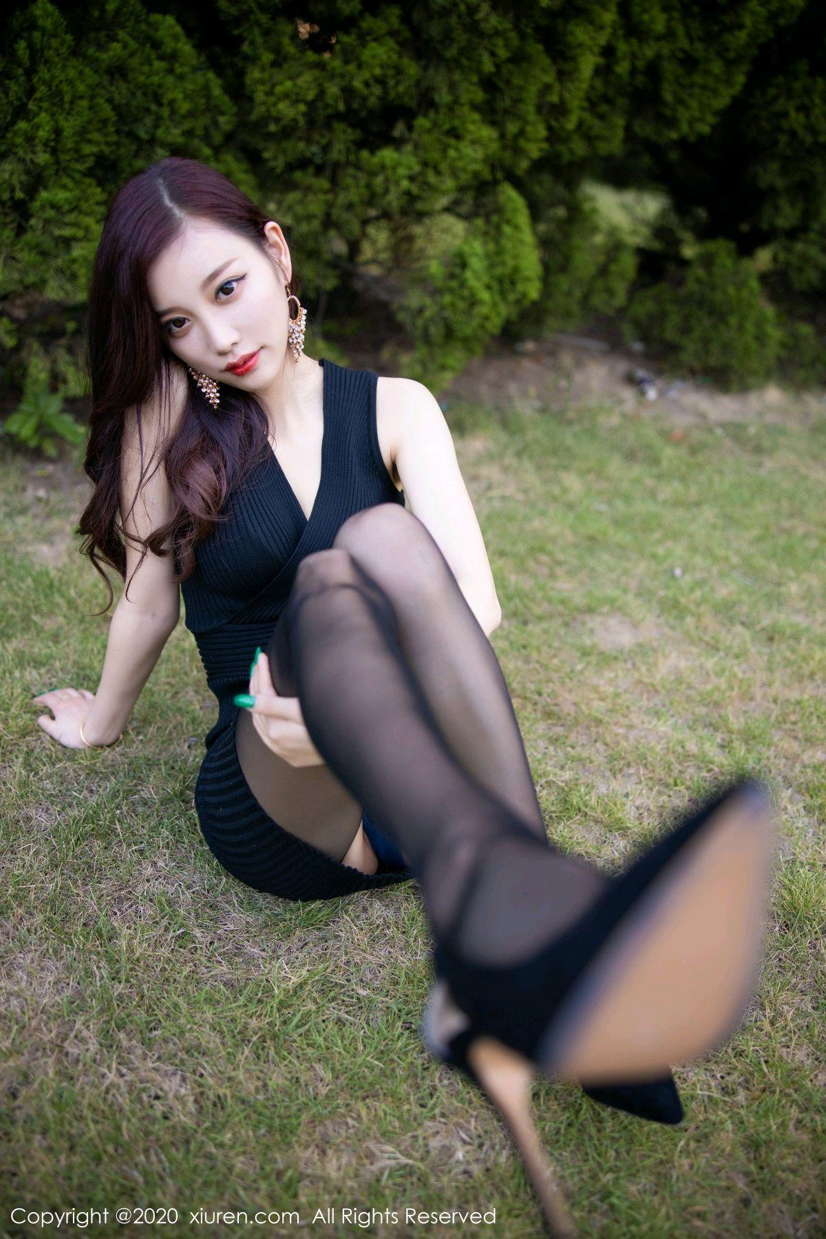[XiuRen] Vol.2648 Yang Chen Chen 34P, Black Silk, Outdoor, Xiuren, Yang Chen Chen