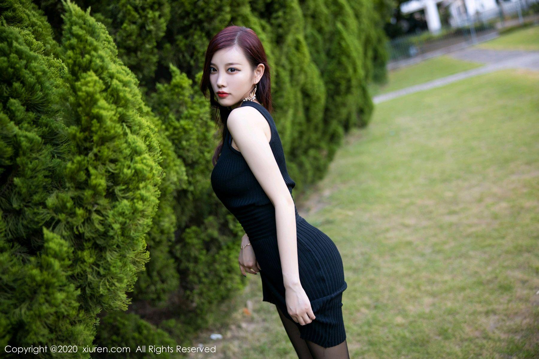 [XiuRen] Vol.2648 Yang Chen Chen 37P, Black Silk, Outdoor, Xiuren, Yang Chen Chen