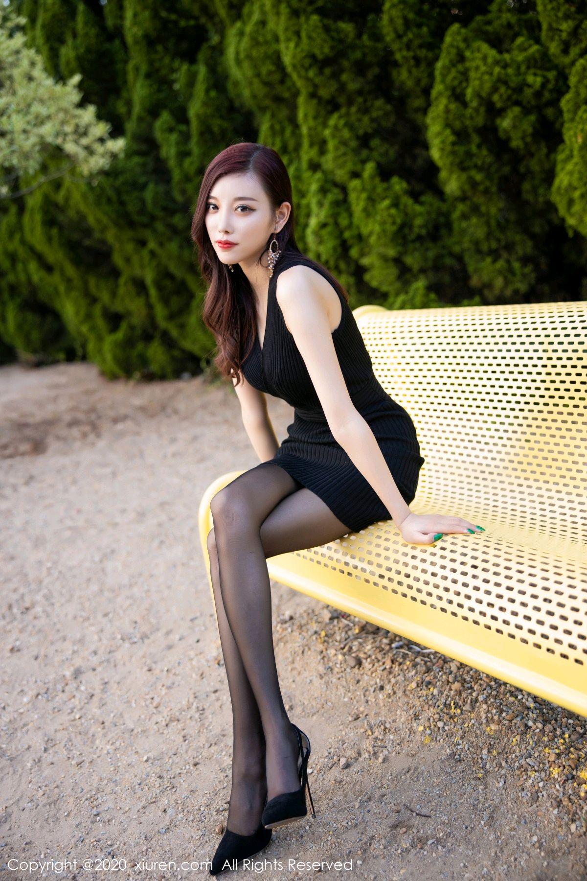 [XiuRen] Vol.2648 Yang Chen Chen 46P, Black Silk, Outdoor, Xiuren, Yang Chen Chen