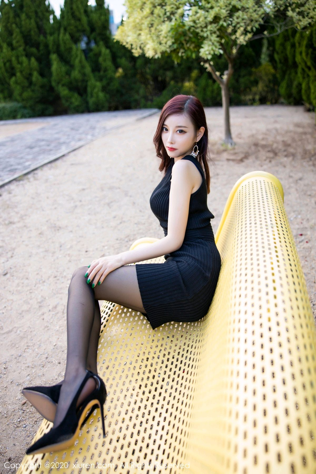 [XiuRen] Vol.2648 Yang Chen Chen 53P, Black Silk, Outdoor, Xiuren, Yang Chen Chen