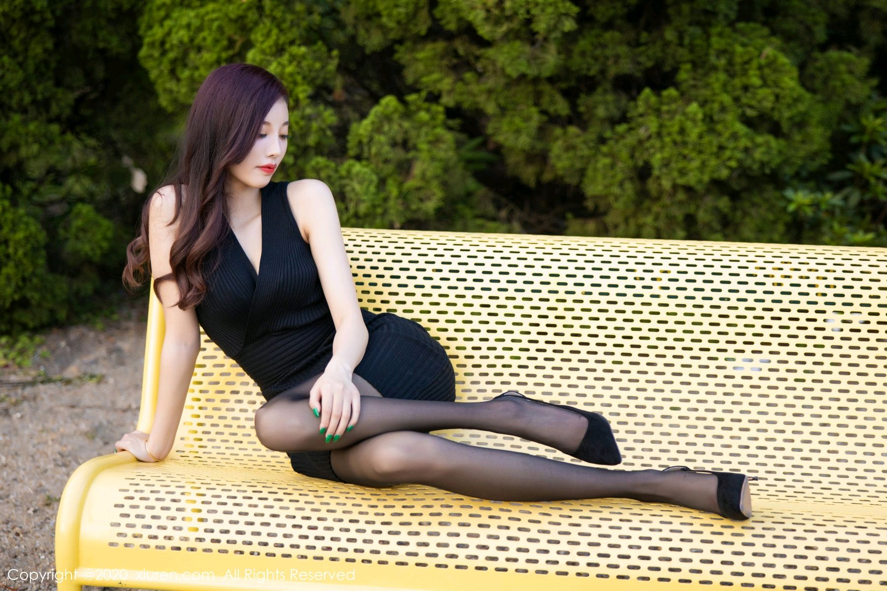 [XiuRen] Vol.2648 Yang Chen Chen 56P, Black Silk, Outdoor, Xiuren, Yang Chen Chen