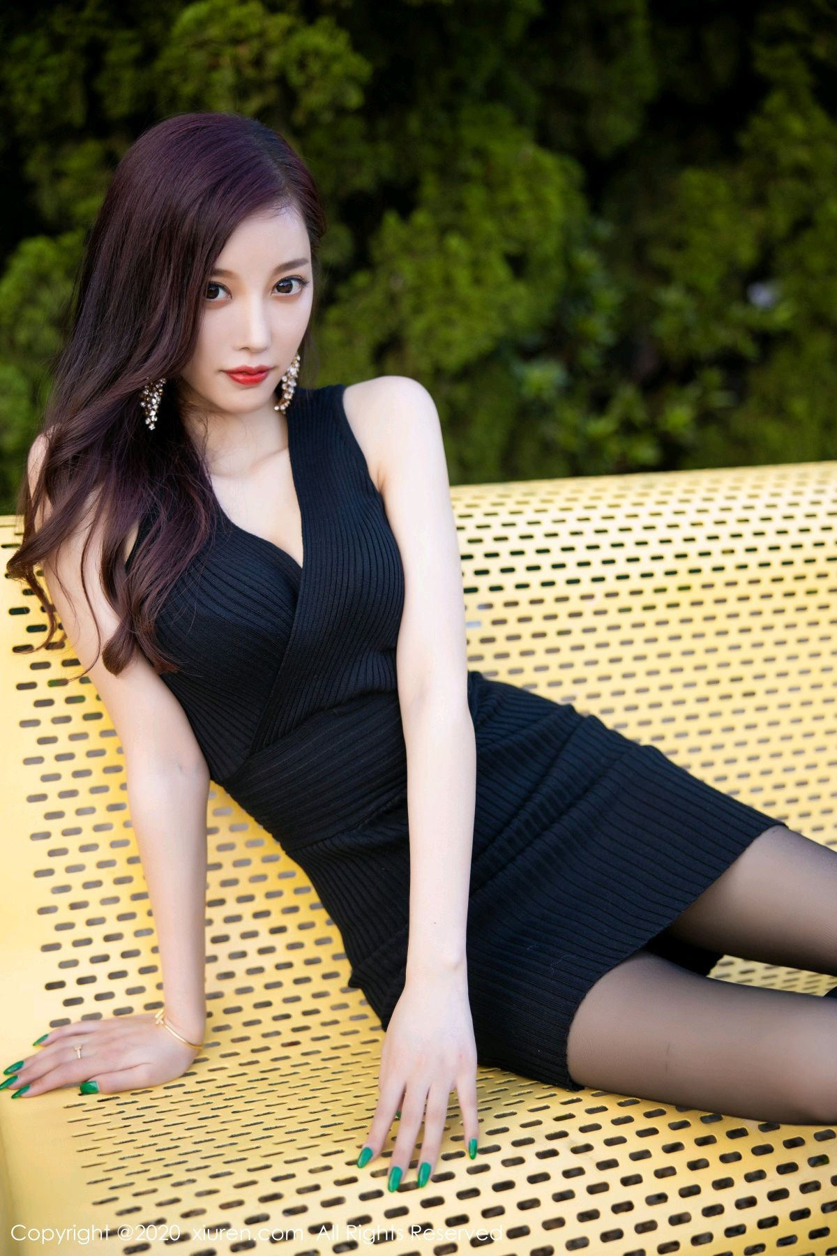 [XiuRen] Vol.2648 Yang Chen Chen 61P, Black Silk, Outdoor, Xiuren, Yang Chen Chen