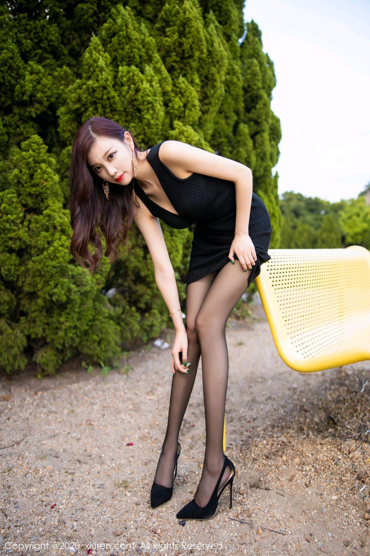 [XiuRen] Vol.2648 Yang Chen Chen 68P, Black Silk, Outdoor, Xiuren, Yang Chen Chen