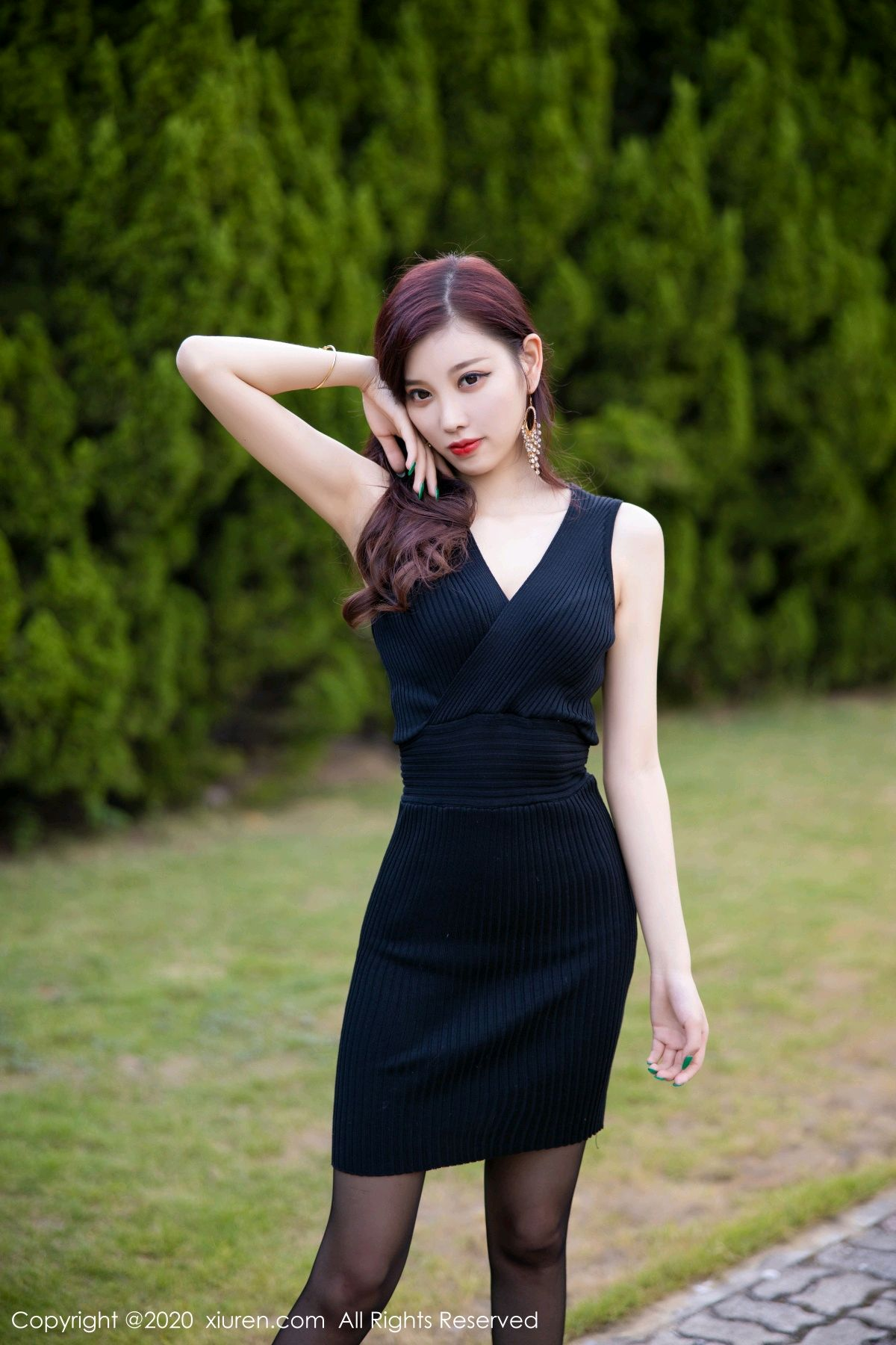 [XiuRen] Vol.2648 Yang Chen Chen 6P, Black Silk, Outdoor, Xiuren, Yang Chen Chen