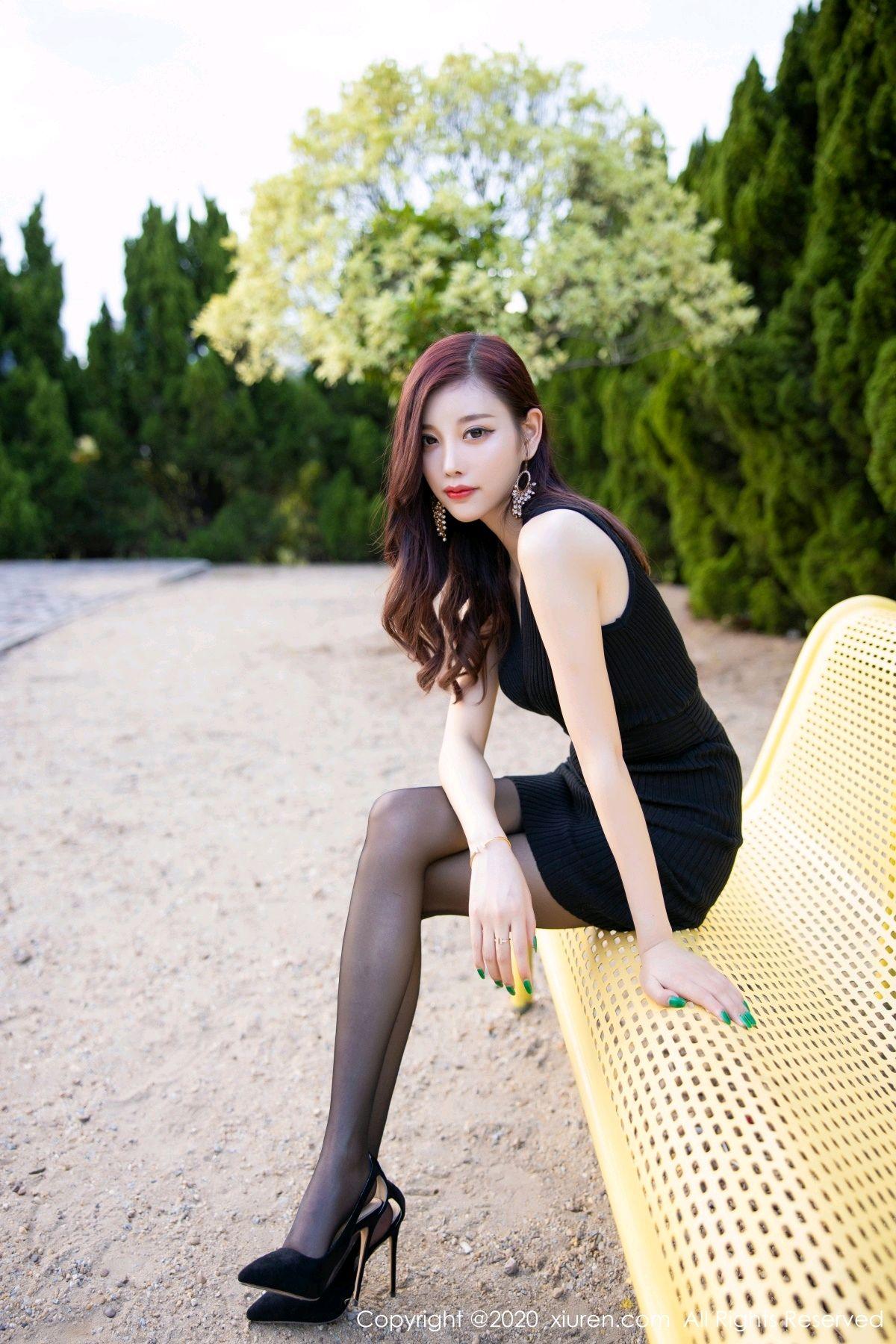 [XiuRen] Vol.2648 Yang Chen Chen 76P, Black Silk, Outdoor, Xiuren, Yang Chen Chen