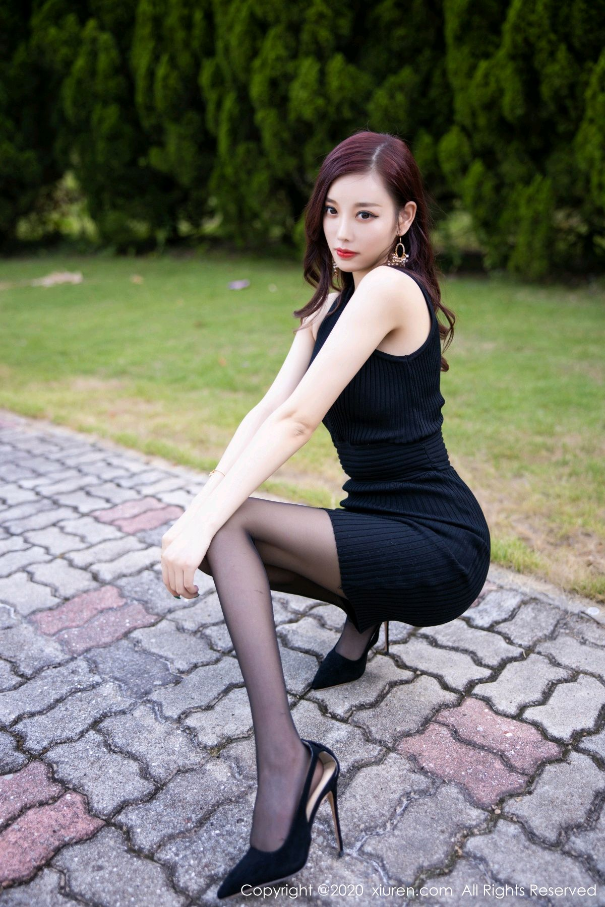 [XiuRen] Vol.2648 Yang Chen Chen 8P, Black Silk, Outdoor, Xiuren, Yang Chen Chen