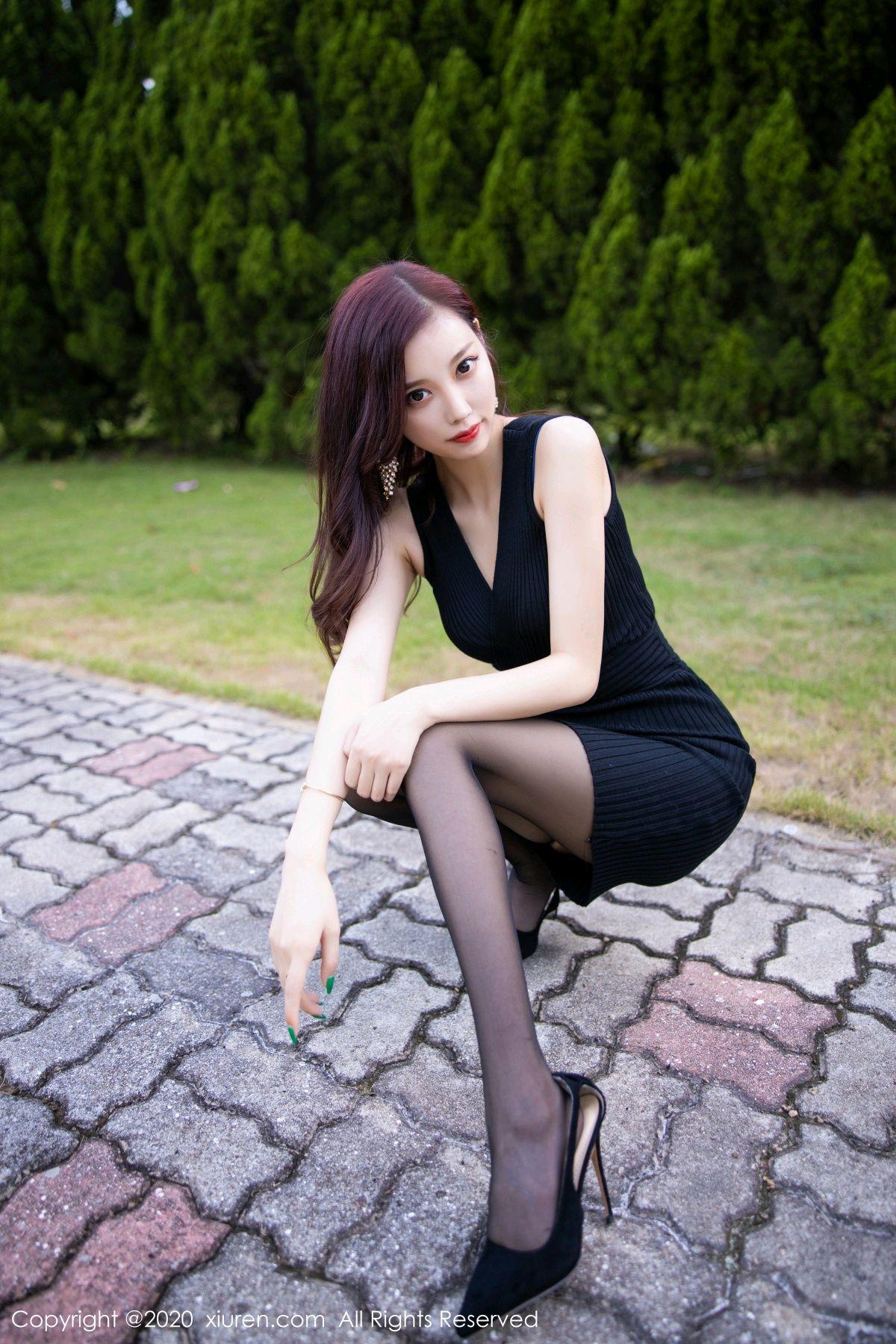 [XiuRen] Vol.2648 Yang Chen Chen 9P, Black Silk, Outdoor, Xiuren, Yang Chen Chen