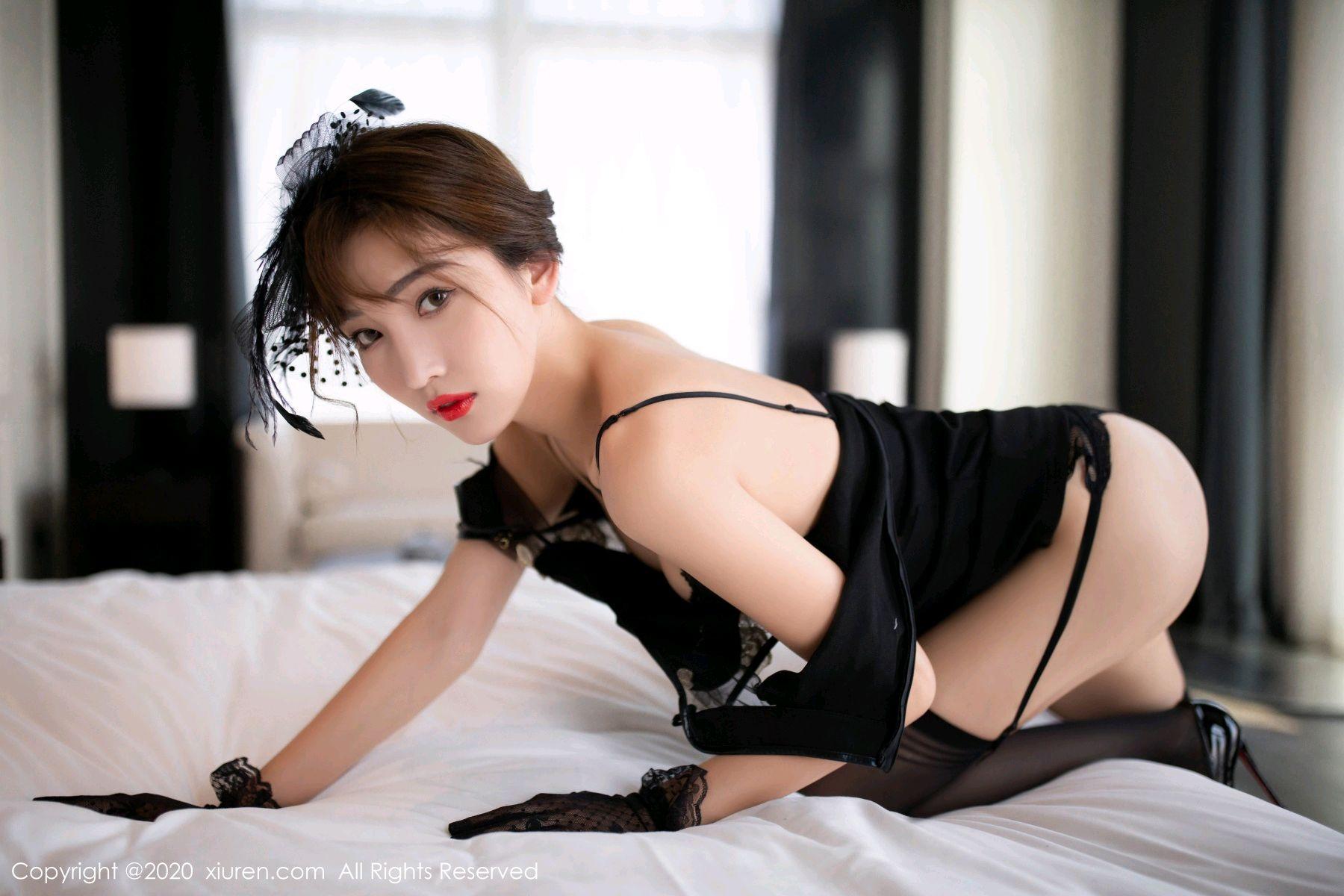 [XiuRen] Vol.2694 Lu Xuan Xuan 29P, Black Silk, Cheongsam, Lu Xuan Xuan, Tall, Xiuren