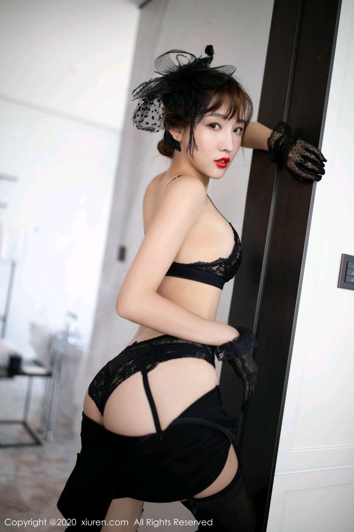 [XiuRen] Vol.2694 Lu Xuan Xuan 51P, Black Silk, Cheongsam, Lu Xuan Xuan, Tall, Xiuren