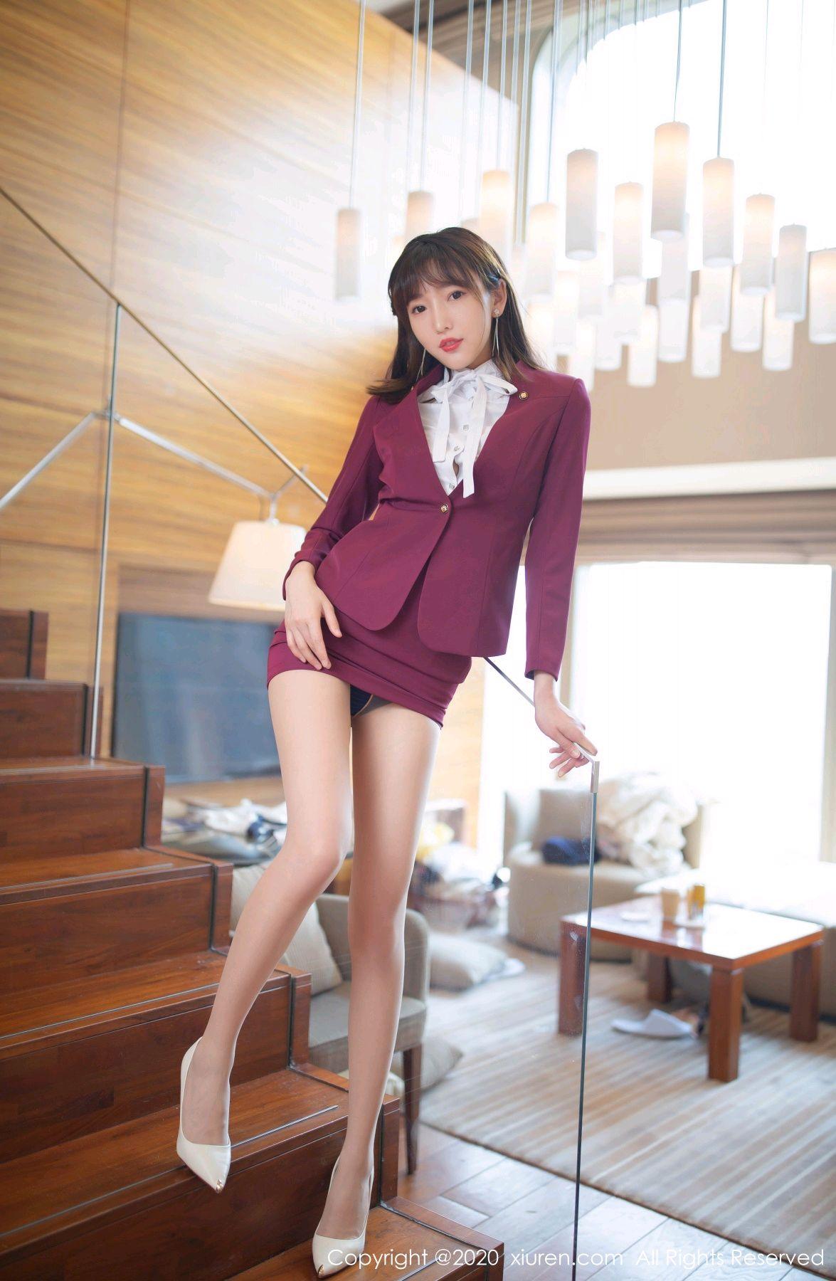 [XiuRen] Vol.2705 Lu Xuan Xuan 10P, Lu Xuan Xuan, Stewardess, Tall, Uniform, Xiuren