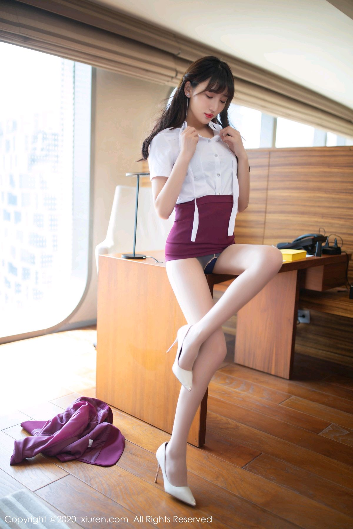 [XiuRen] Vol.2705 Lu Xuan Xuan 18P, Lu Xuan Xuan, Stewardess, Tall, Uniform, Xiuren
