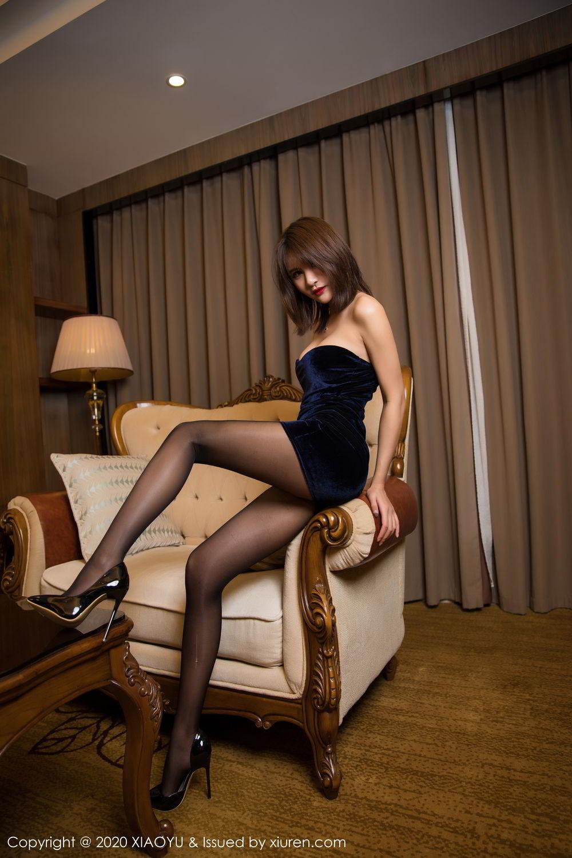 [XiuRen] Vol.273 Gu Nai Nai 5P, Black Silk, Solo Yi Fei, Underwear, Xiuren
