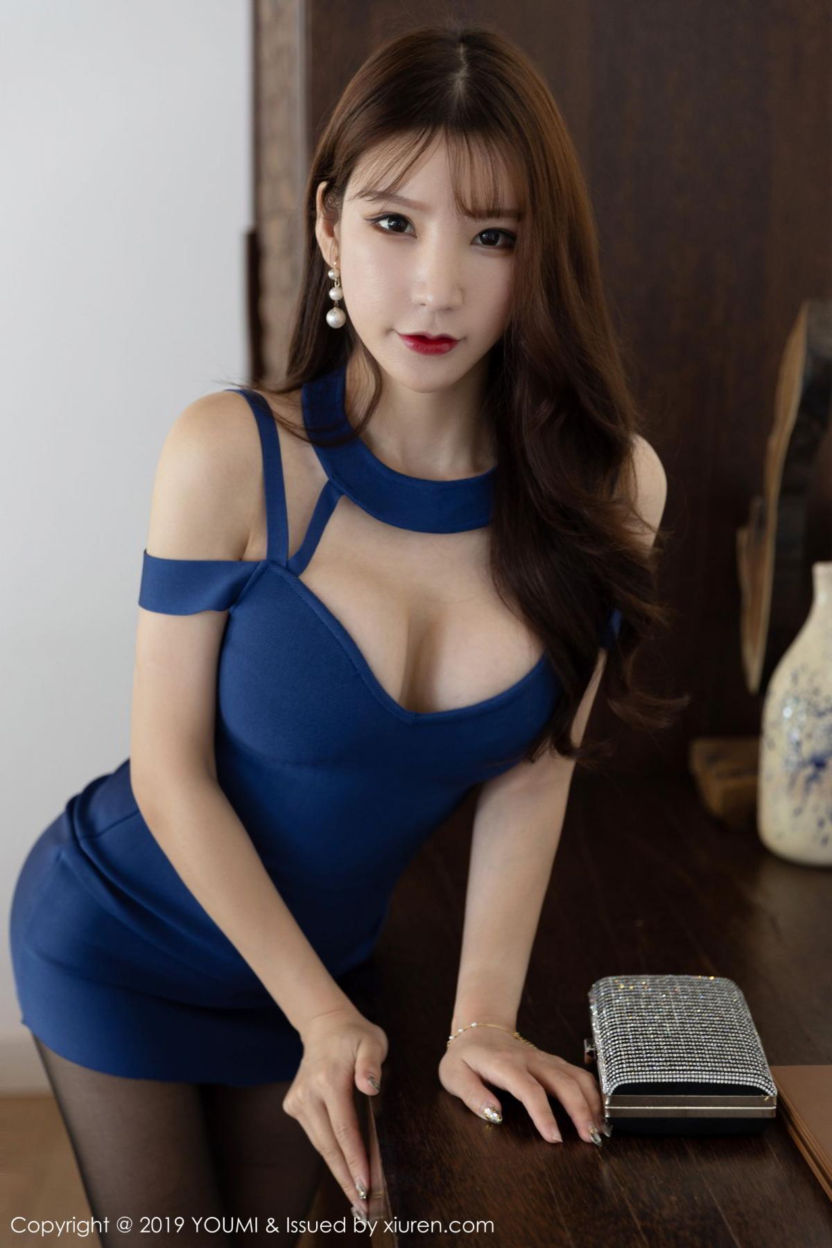 [XiuRen] Vol.351 Zhou Yu Xi 17P, Black Silk, Xiuren, Zhou Yu Xi