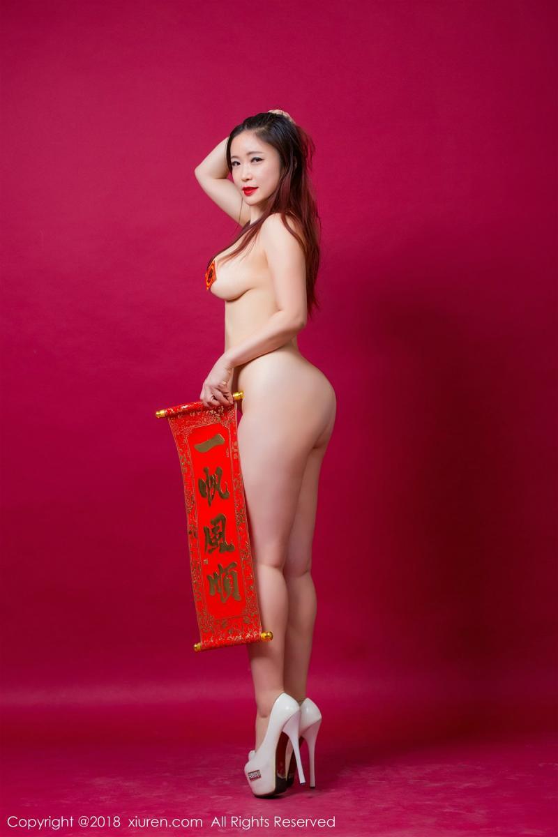 XiuRen No.887 34P, Xi Xi Bai Tu, Xiuren